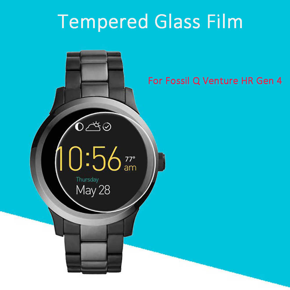 2.5D 9H Clear Tempered Glass Screen Protector For Fossil Q Venture HR Gen 4 Smart Watch Scratch Resistant Screen Guard Film