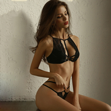 Perspective Bralette Sets Lenceria Intimates Sexy Lingerie Womens Ultra thin Lace Temptation Underwire Bra Panty Set