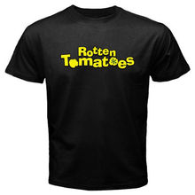 Rotten Tomatoes Movie Rating Logo Men's Black T-Shirt
