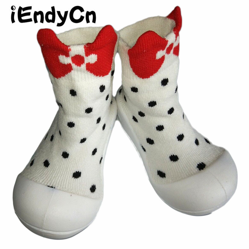 iEndyCn Baby Toddler Soft Bottom  Floor Socks With Rubber Baby Shoes Girls Boys Soles Cotton Non-Slip Rubber-Soled YD380R
