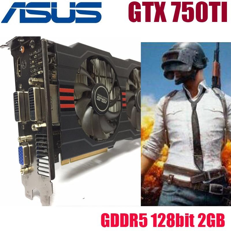 Asus GTX-750TI-OC-2GB GTX750TI GTX 750TI 2G D5 DDR5 128 Bit PC Desktop Graphics Cards PCI Express 3.0 computer Video card HDMI yeston geforce gt 1030 gpu 2gb gddr5 64 bit gaming desktop computer pc video graphics cards support