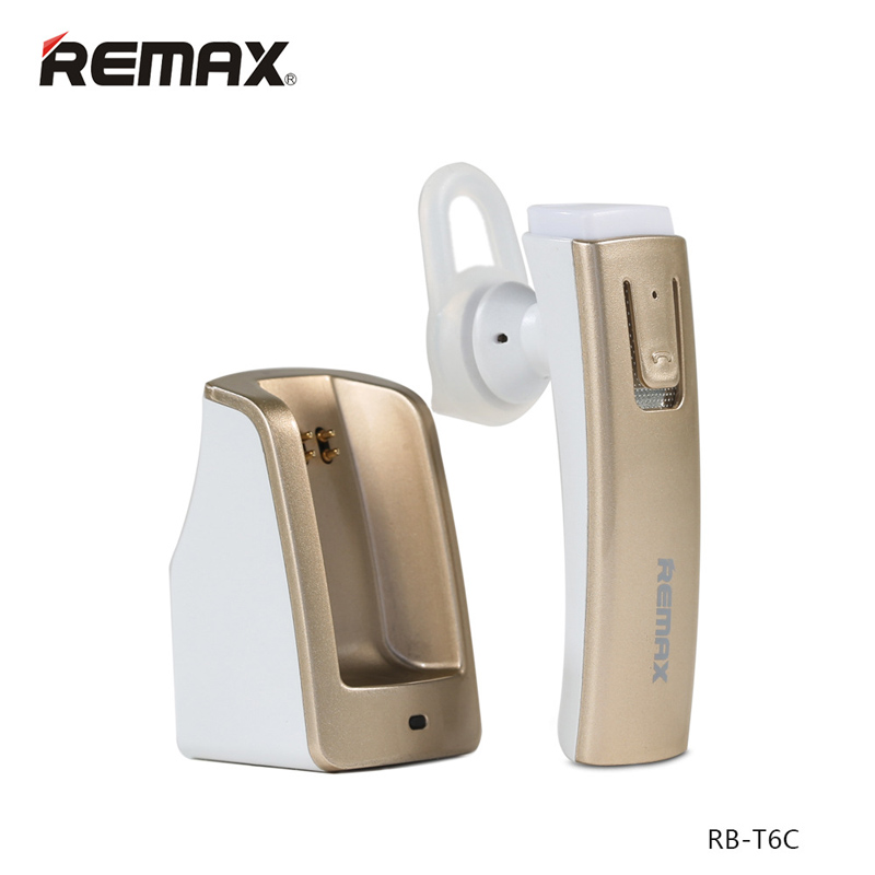 Remax RB-T6 Long Standby Wireless Bluetooth Headset Music Headphone Car Driver Handsfree Earphone With Intelligent Charging Base remax 2 in1 mini bluetooth 4 0 headphones usb car charger dock wireless car headset bluetooth earphone for iphone 7 6s android