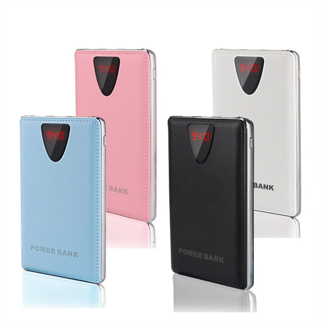 Ультра-тонкий Power Bank 10000 мАч ЖК-Дисплей 3 USB Полимер Внешняя Батарея Портативное Зарядное Powerbank для всех телефон