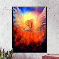 Hand Painted The Great Animal Phoenix Chinese Traditional Rich Auspicious Bird Oil Painting On Canvas Oil