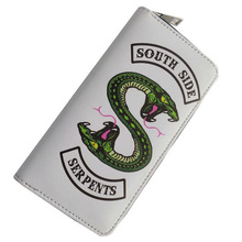 Riverdale South Side Serpents cosplay Wallet Zipper Around Wallets for Men Women
