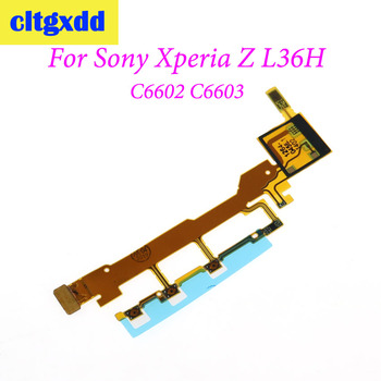 cltgxdd For Sony Xperia Z L36H L36 LT36 C6602 C6603 Power Button Flex Cable With Microphone Ribbon Replacement parts image