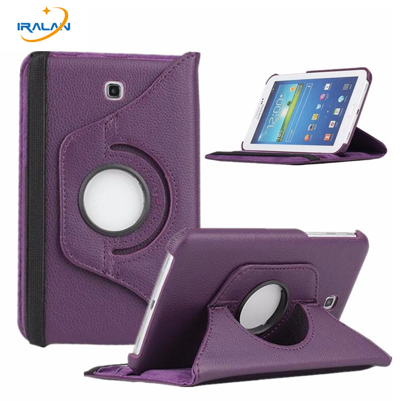 New 360 Degree Rotating Case For Samsung Galaxy Tab 3 7.0 T210 T211 T215 P3200 P3210 PU Leather Flip Stand Cover+stylus pen+film 2017 new products luxury 360 rotating flip leather stand cover tablet case for samsung galaxy tab e 9 6 t560 t561 case stylus