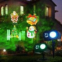 Jiguoor led duplo tambor padrão de impressão água estágio laser lâmpada à prova dwaterproof água luzes do projetor laser para o natal decorações do feriado