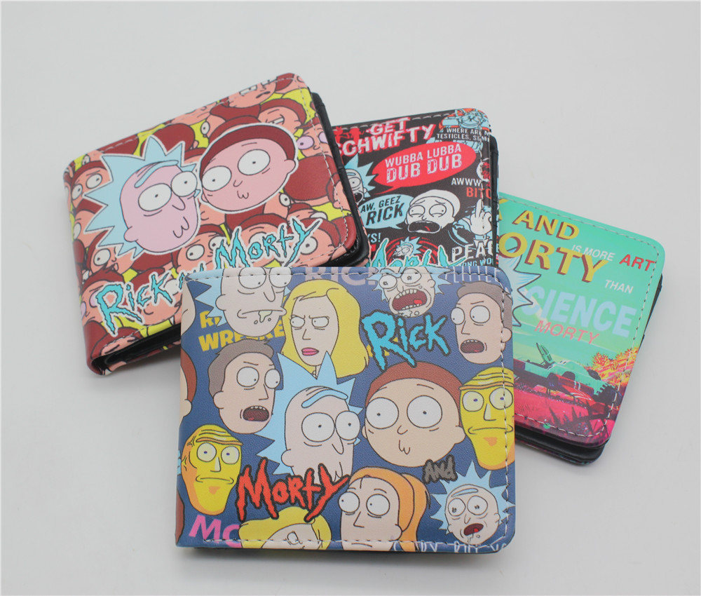 Anime Rick And Morty Cartoon Wallet Men Women's Wallets Gift Boy And Girl Purse With Coin Pocket anime cartoon wallets bifold game pokemon go pikachu wallet for teenager women men pocket monster purse coin purses holders