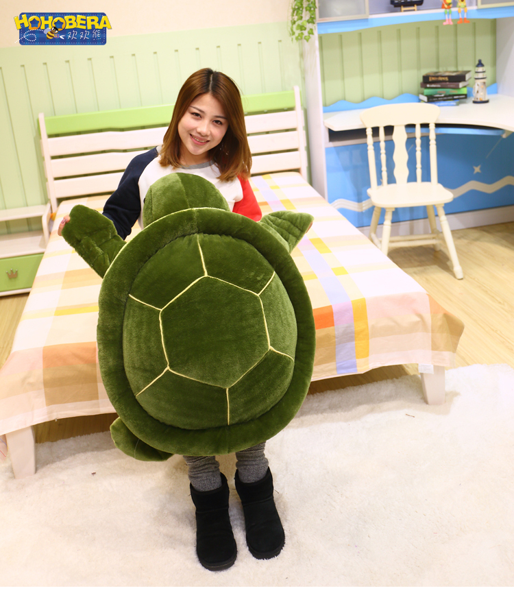 Plush toy turtle large turtles doll big fluffy pillow doll birthday gift to men and women huge turtle about 85cm 2017 new arriving 40cm big eyes turtle plush toy turtle doll turtle kids as birthday christmas gift free shipping