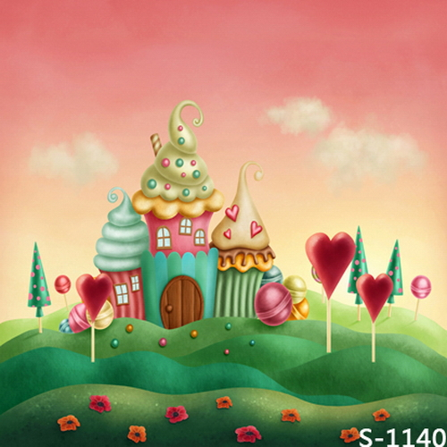 Ice Cream House 5x7ft Photo Background Baby Children Wedding Photo Studio Props Photography Vinyl Cloth Backdrops 200 300cm wedding background photography custom vinyl backdrops for studio digital printed wedding photo props