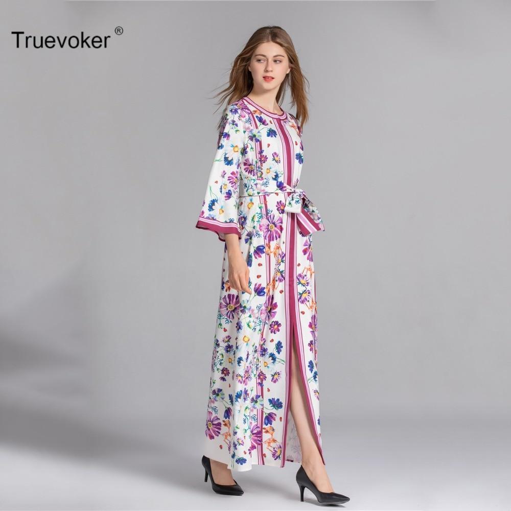 Truevoker Spring Designer XXXL Maxi Dress Women s High Quality Fancy Printed  Plus Size Holiday Resort Long Robe Femme Ete-in Dresses from Women s  Clothing ... 44c10207dd7b