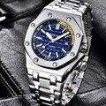 Мужские часы BENYAR  спортивные  повседневные  водонепроницаемые  кварцевые  синие  2019