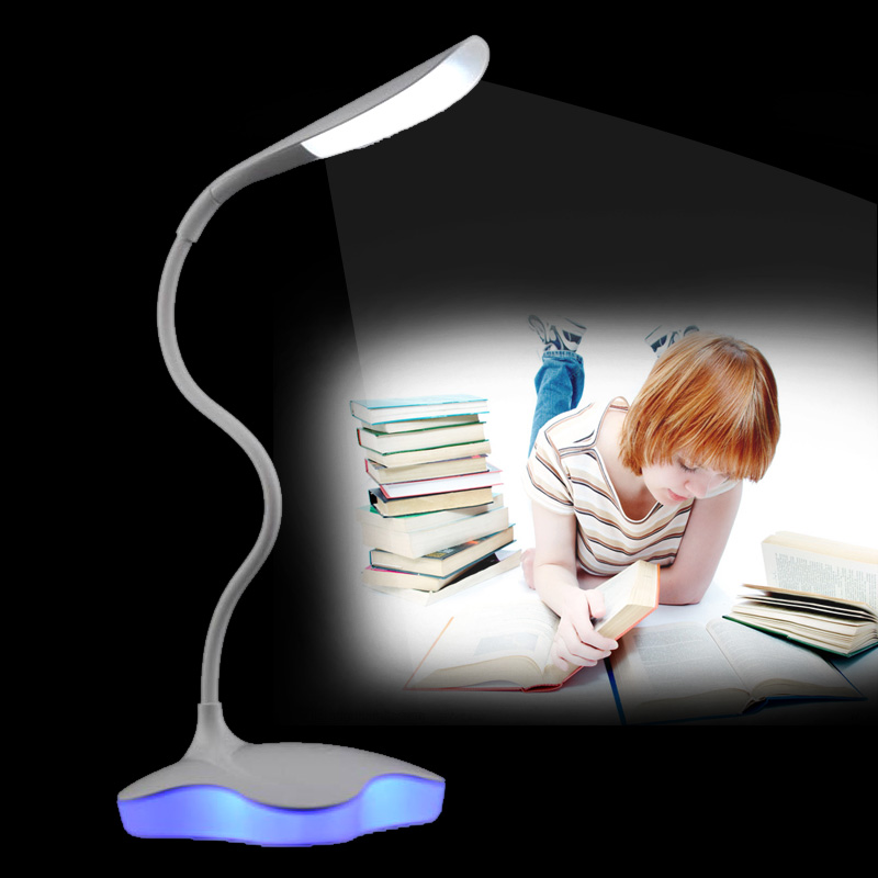 Reading Desk Lamp Book Light Dimmable Flexible USB Rechargeable Bedside Bedroom Table Lamp ALI88