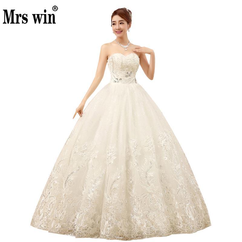 Diamond Wedding Gown: 2018 New Arrive Strapless Wedding Dress Large Size Ball