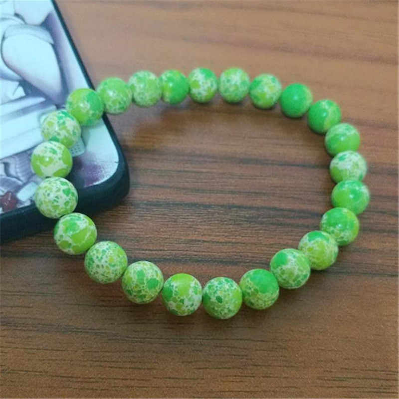Breloque pierre de lave naturelle bracelets pour femme perles de verre de mode réglable Bracelet Chakra de guérison hommes bijoux cadeaux de noël