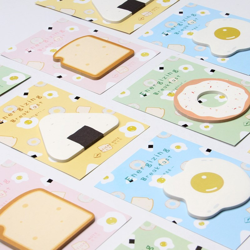 Apprehensive Novelty Energizing Breakfast Memo Pad Sticky Notes Memo Notebook Cute Kawaii Stationery Papelaria Escolar School Office Supplies Elegant And Graceful Memo Pads Notebooks & Writing Pads