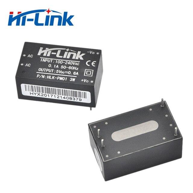 Envío gratis 2 piezas 220 v 5 V 3 W AC DC módulo de fuente de alimentación aislada de casa inteligente HLK-PM01 Modo de conmutación módulo de fuente de alimentación