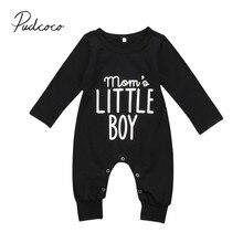 Модный комбинезон для новорожденных и маленьких мальчиков, комбинезон с длинными рукавами, одежда для маленьких мальчиков, черная одежда