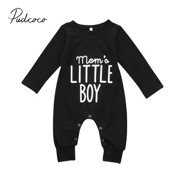 Boy's Mom's Little Boy Printed Jumpsuit 1