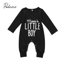 2017 Brand New Fashion Newborn Toddler Infant Baby Boys Romper Long Sleeve Jumpsuit Playsuit Little Boy Outfits Black Clothes(China)