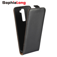 For LG K8 Case Genuine Leather Cases For LG G8 Cover 5 0 Inch Down Up
