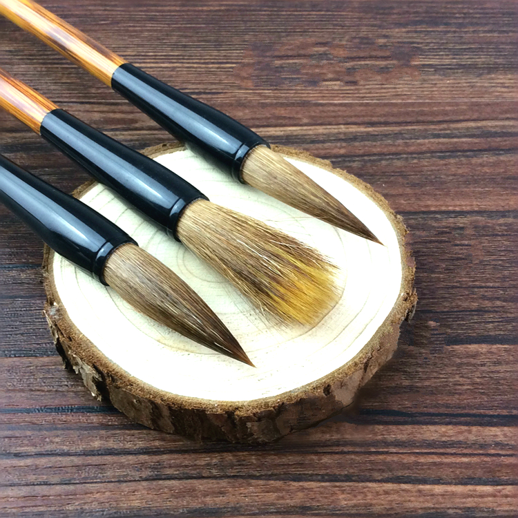 Hot Sale Weasel Woolen Hair Writing Pen Brush Calligraphy Pen Painting Large Middle Small Regular Script Writing Brushes 3pcs 1piece small regular script calligraphy pen brush weasel hair painting writing brush artist drawing brush art supplies mb126