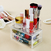 TTLIFE Transparent Acrylic Cosmetic Desk Makeup Organizer Case Storage Drawer Insert Jewelry Box Holder