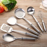 6PCS 304 stainless steel spatula household kitchen set kitchen cooking spoon shovel