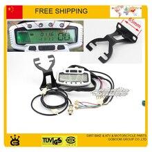 CEE bicicleta velocímetro digital sensor de velocidad de la motocicleta ATV Digital Universal Velocímetro Cuentakilómetros Dashboard para ATV, bici de la calle
