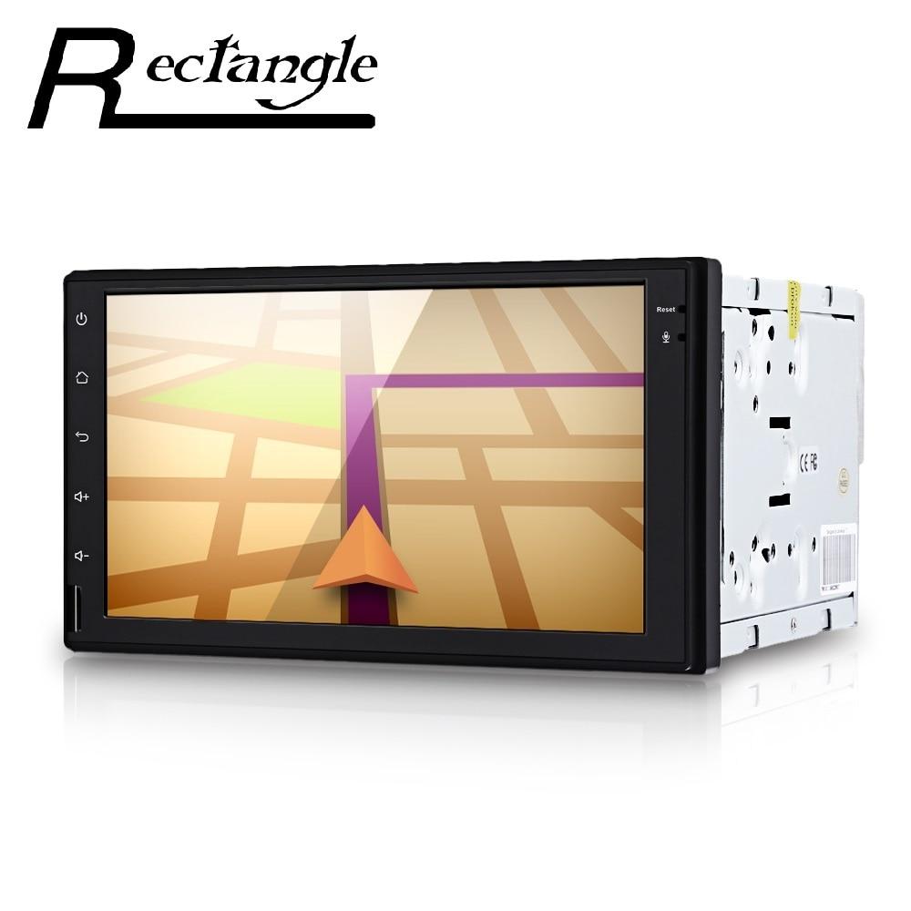 7 pulgadas Reproductor multimedia Android 4.4 Quad Core 2 Din Navegación GPS En