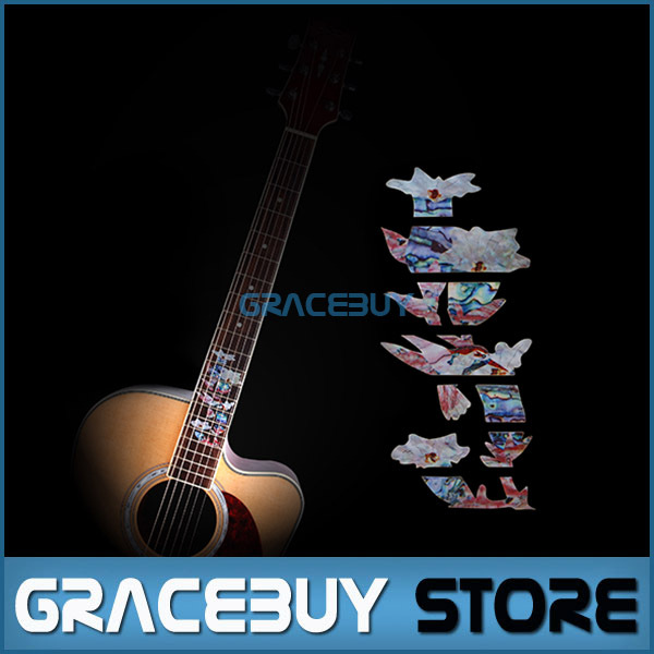 Fretboard Inlay Stickers Hummingbird Pick Honey Guitar Fret Markers / Decals For Acoustic / Electric Guitarra Neck