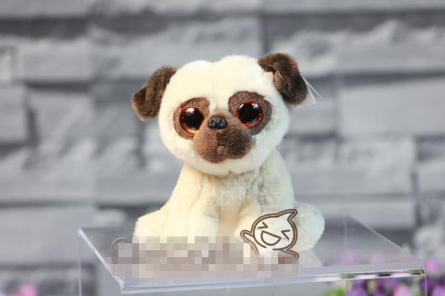 Cute Original Big Eyes Pug Dog Soft Stuff Animal Plush Toy Doll Children Birthday Gift Christmas Gift 1pcs 22cm fluffy plush toys white eyebrows cute dog doll sucker pendant super soft dogs plush toy boy girl children gift