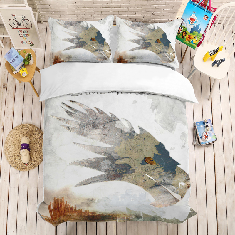 Game Of Thrones 3D Bedding Set Duvet Covers Pillowcases A Song Of Ice And Fire Comforter Bedding Sets Bedclothes Bed Linen