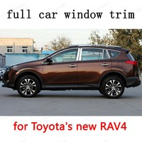 Car Exterior Accessories full Window Trim for Toyota new RAV4 Stainless Steel Decoration Strips car stying with column