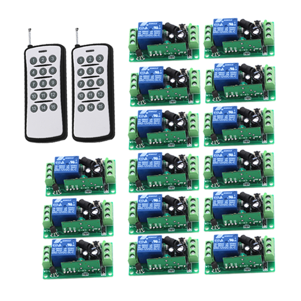 Radio Remote Wireless Remote Control Switch LED Light Lamp Switch 15pcs Receiver + 2pcs 15CH Transmitter for Light / Gate niorfnio portable 0 6w fm transmitter mp3 broadcast radio transmitter for car meeting tour guide y4409b
