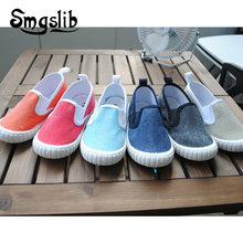 купить Kids Canvas Shoes Baby Boy Sneaker Toddler Sports Sneakers 2018 Spring Autumn Children Loafers Girl Casual Sneakers Flat Trainer дешево