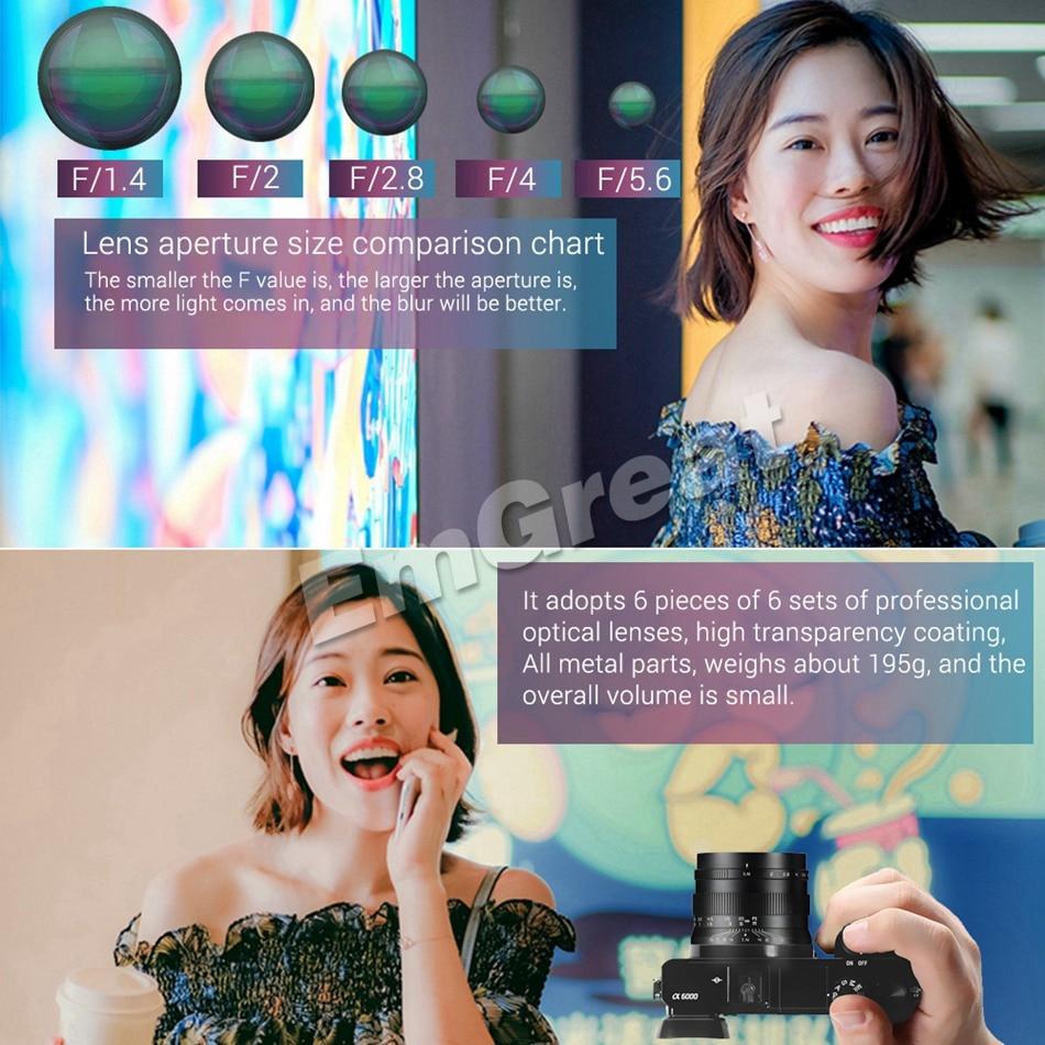Image 5 - Zonlai 50mm F1.4 Prime Lens Large Aperture Manual Focus Lens 195g for Sony E mount for Fuji Canon EOS M Mount Mirrorless CameraCamera Lens   -