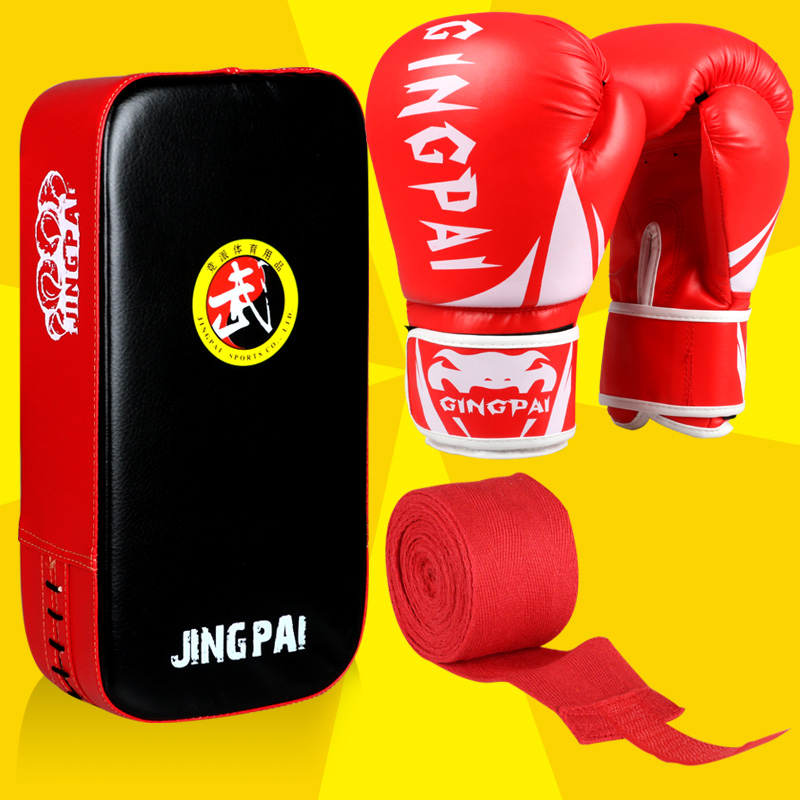 3 couleur adulte hommes muay thai combat de boxe gants pied cible MMA tapis de punch mitt bandages gants de boxe à la main wraps