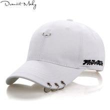 735873a4e02 Fashion Safety Pin Baseball Cap Iron Ring Hip Hop Snapback Hats For Men  Women Ring Hoop design Sport Casquette Gorras sun hats