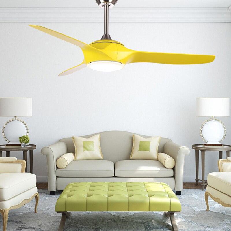 Современный подвесной вентилятор светодиодные лампы Коричневые потолочные вентиляторы с дистанционное управление освещением светодиодн