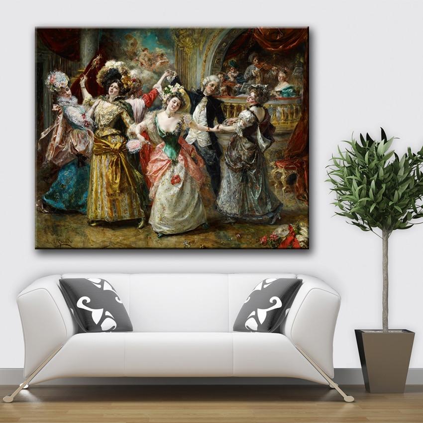 Klassische gericht personen figuren palace dance leinwand drucke ...