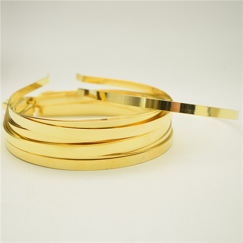 Gold 3 Strand Headband Alice Band No Teeth