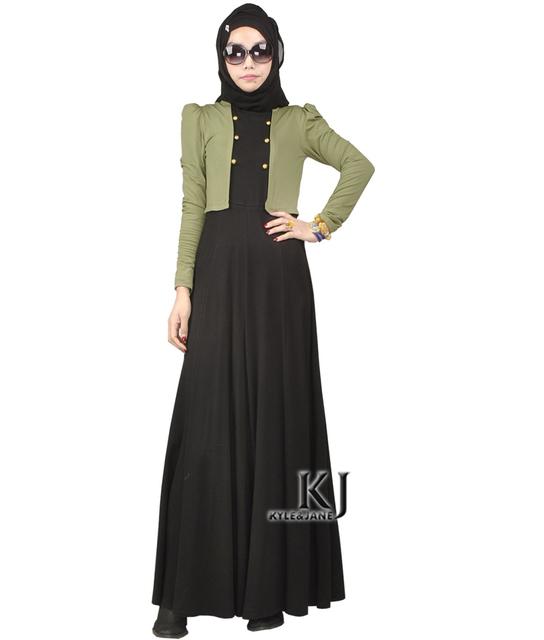 Vestido de los musulmanes Ropa Islámica Para Las Mujeres Abaya en Dubai Jilbab Chilaba Túnica Musulmana de Turco Ropa Mujeres Usar para Trabajar