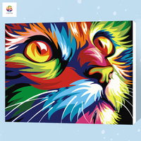 Frameless Diy Digital Painting By Numbers Animal Astract Lion Acrylic Paint Modern Wallh Art Canvas Painting