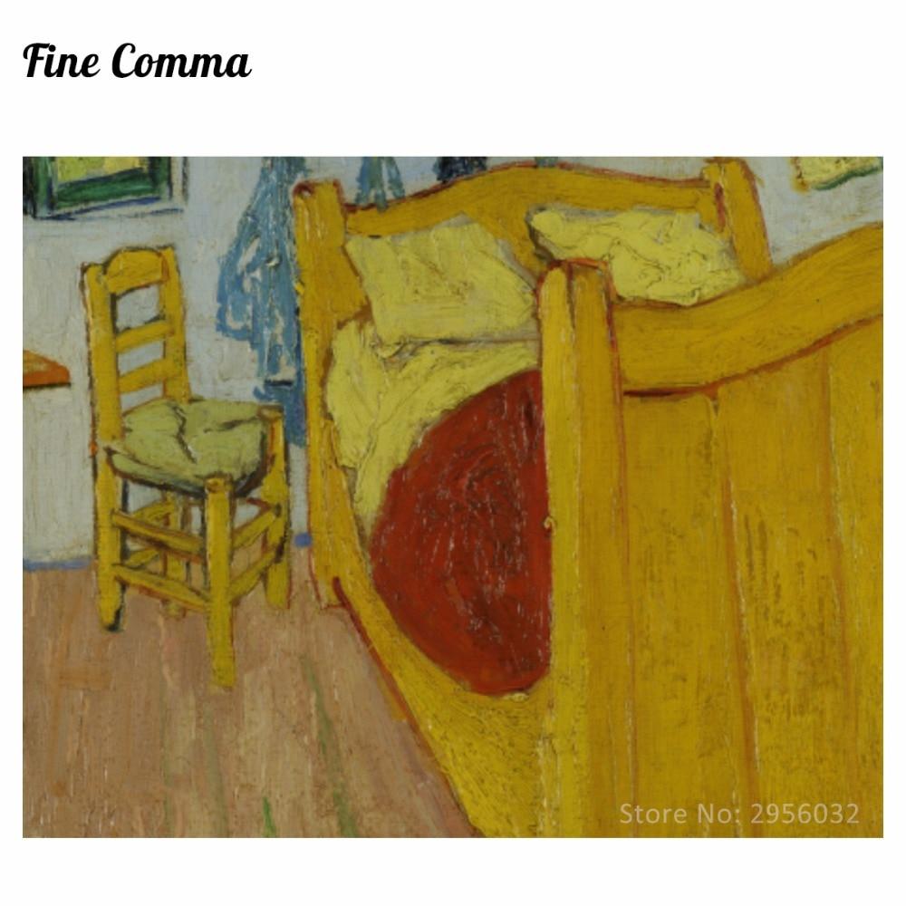 Elegant 94 05 5 De Réduction Chambre à Coucher à Arles 2nd Version De Vincent Van  Gogh Peint à La Main Peinture à L Huile Reproduction Réplique Mur