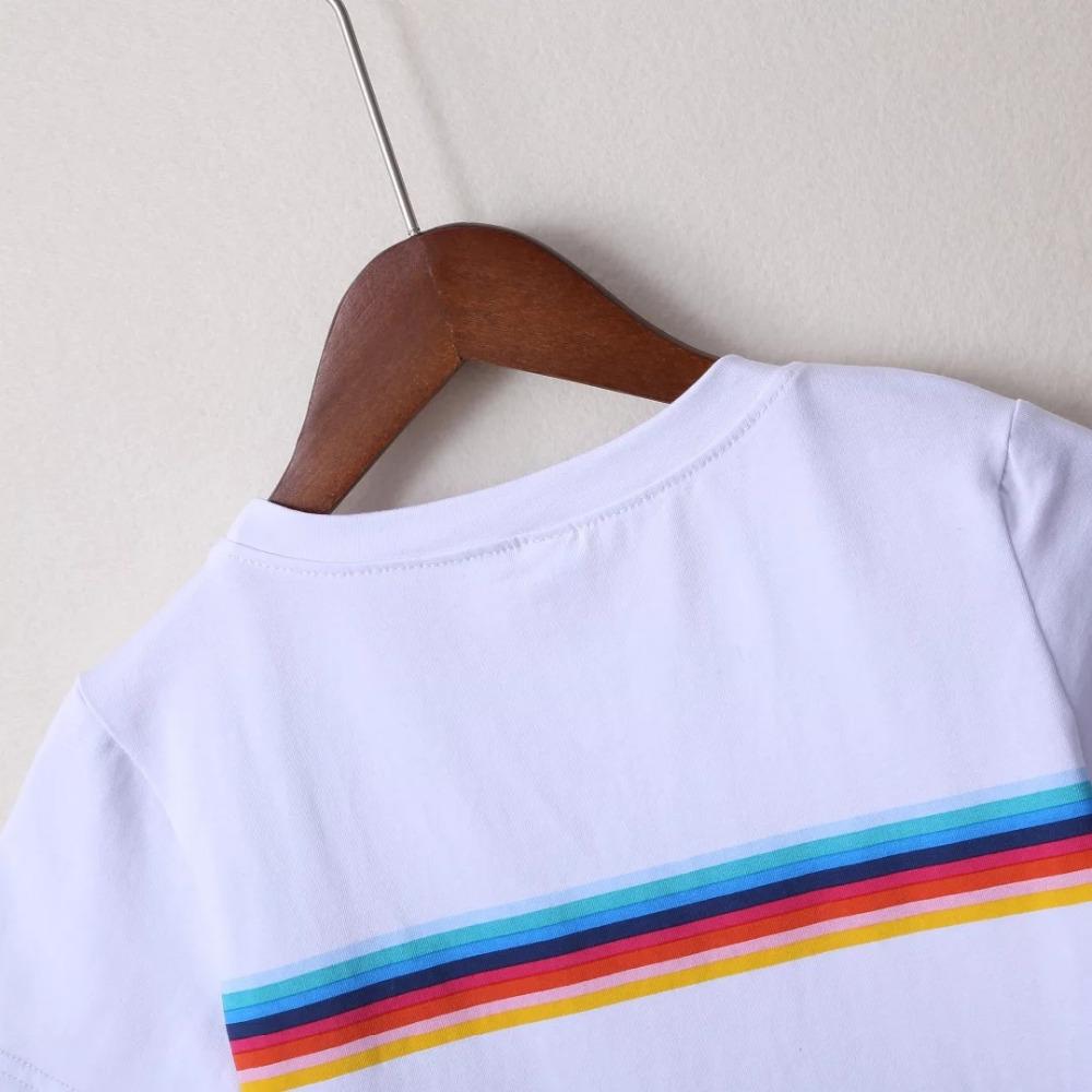 HTB18G3UPVXXXXbeXVXXq6xXFXXXG - Rainbow Stripes Crop T-shirt PTC 141