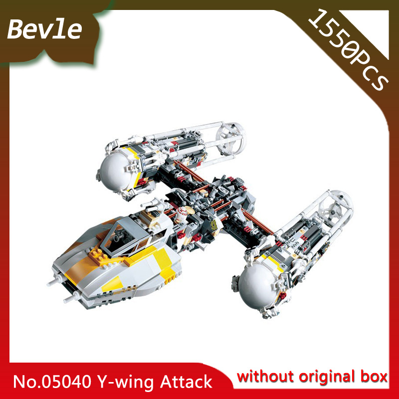 Bevle Store LEPIN 05040 1473Pcs star space Y-wing Attack Starfighter Model Building Kits  Blocks Bricks For Children Toys 10134 lepin 05040 y attack starfighter wing building block assembled brick star series war toys compatible with 10134 educational gift