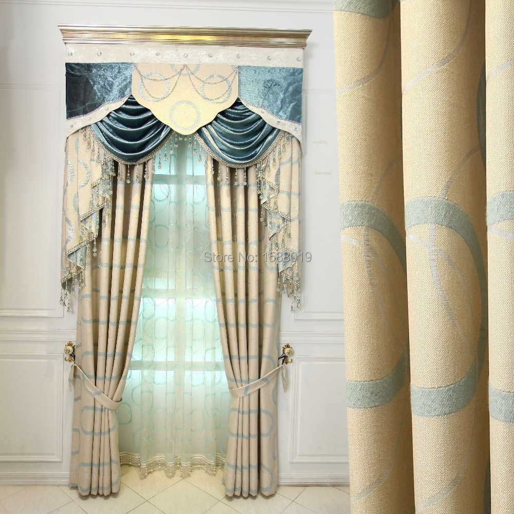 2015 new design simple custom bedroom livingroom upscale for 3 window curtain design