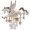 Factory Outlet Gold Alloy Imitation Shellfish Drops Oil Pegasus Unicorn Stars Tassel Accessories Restoring Ancient Ways Brooch